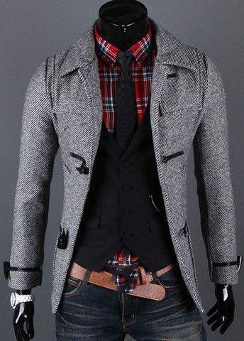 Hot Sale Turndown Collar Single Breasted Woolen Coat – teeteecee - fashion in style