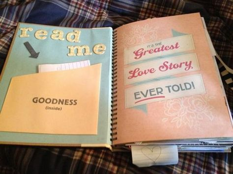 crafty DIY present for your boyfriend fiance or husband, your story/ your year together in a book, perfect for anniversary ll supplies from SMASH book, click for tutorial