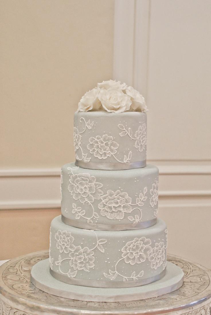 Brush Embroidery Wedding Cake  My Work  Pinterest