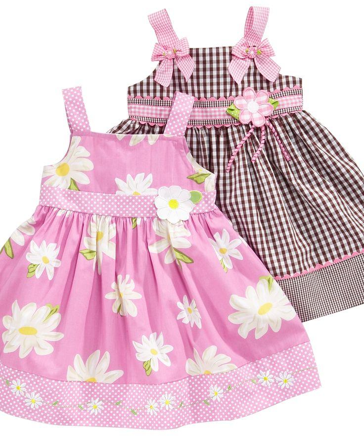 Blueberi Boulevard Baby Dress, Baby Girls Pattern Sundress Kids