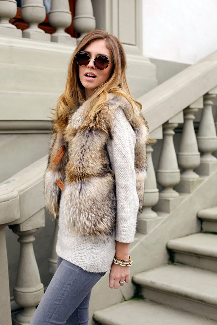 WHAT: Real fur vest.  WHERE: I found this on Tumblr. I have a similar one from Simons. It's more oversized and a little big more awesome.  WHY: It makes any outfit luxurious