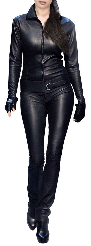 New Customize jumpsuit for Women's 100% pure lambskin leather # WJ 010 #HandMade #Jumpsuit