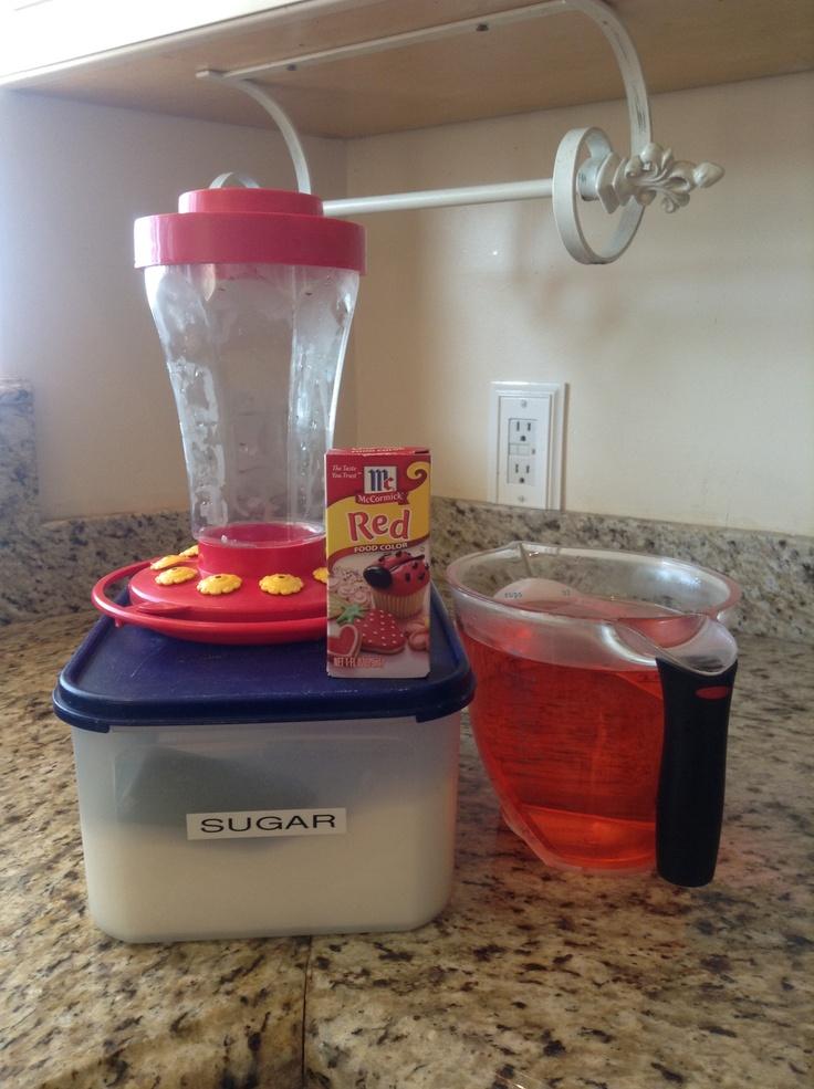 how to make homemade hummingbird food ratio 1 cup warm to hot water 1 - Homemade Hummingbird Food