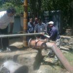 Instalaron un equipo de electrobomba sumergible en Nueva Coneta