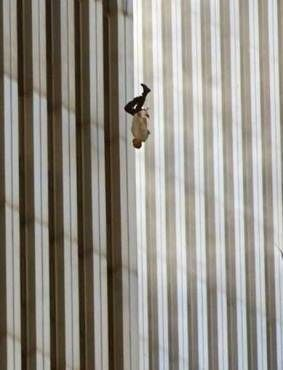 Richard Drew, The Falling Man, 2001. Chilling photo from 9/11/2001