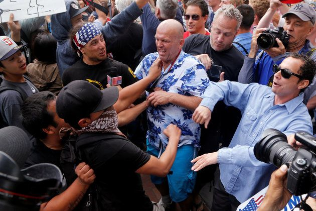 Tension boiled over after the latest rally in Donald Trump's campaign through California.  05/27/2016
