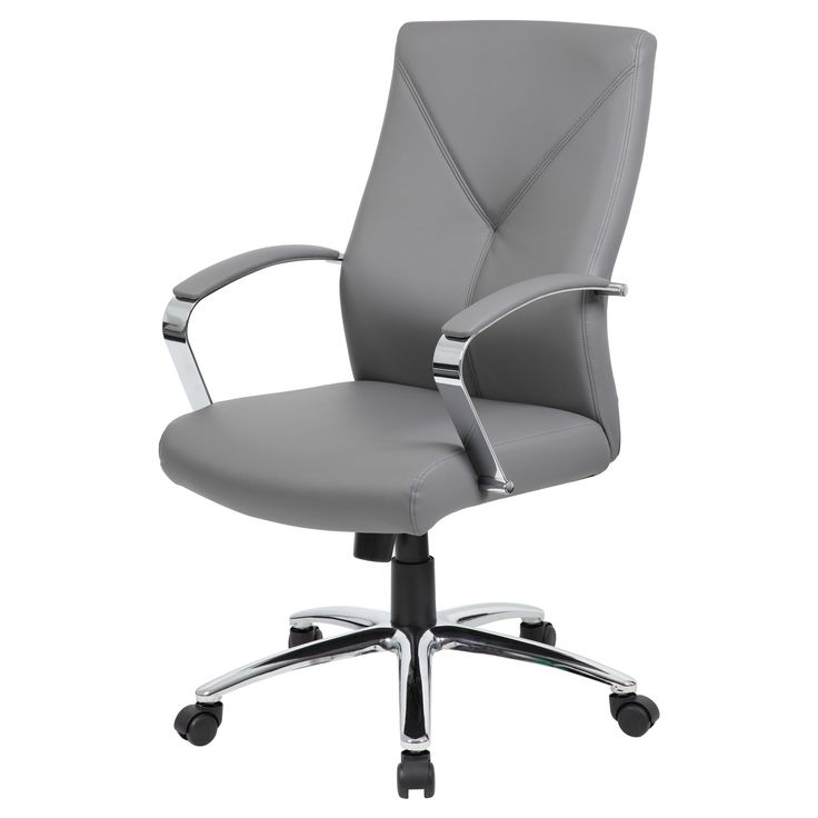 Contemporary Executive Office Chair - Gray - Boss