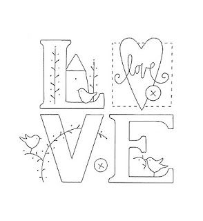 Embroidery pattern (for sack flour dish towels).