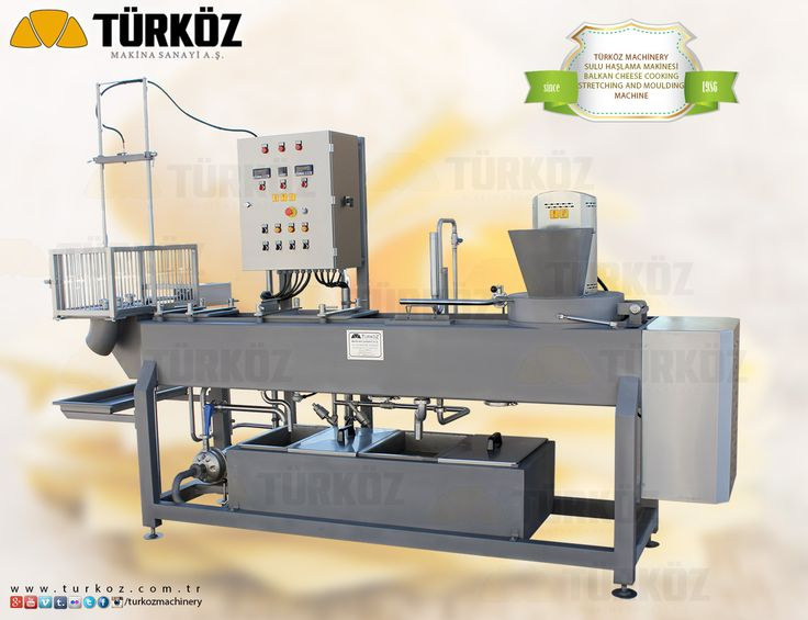 Türköz Machinery Balkan Cheese Cooking Stretching and Moulding Machine - Türköz Makina Kaşar Sulu Haşlama Makinesi.