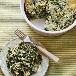 Spinach and Feta Casserole with Brown Rice and Parmesan: Spinach And Rice Casserole, Brown Rice Casserole, Recipe, Casseroles, Parmesan, Brown Rice Spinach