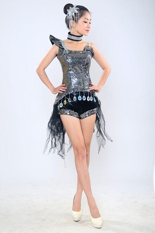 Современный Танец Одежда Мода Джазовый Танец Костюм Блестки Этап DS DJ Танец Костюм купить на AliExpress