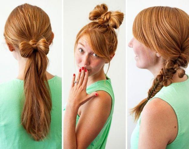 Прикольная прическа с бантом из волос ::: onelady.ru ::: #hair #hairs #hairstyle #hairstyles