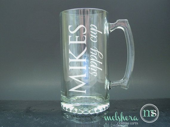 Sippy Cup Personalized Beer Mug Glass  Etched Beer Mug by Melshera, $12.00