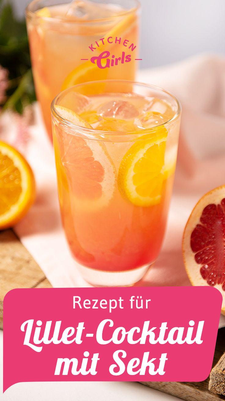 Rezept für Lillet-Cocktail mit Sekt