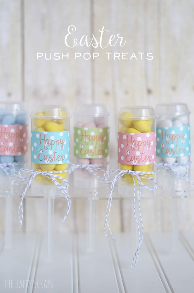 143 best easter recipes images on pinterest easter recipes easter push pop treats the happy scraps negle Choice Image