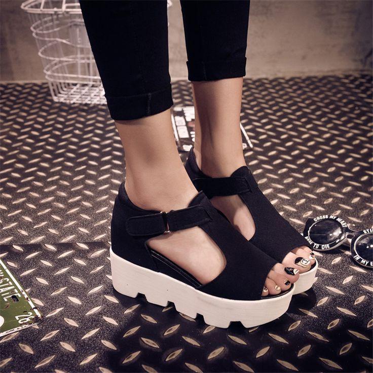 SUMMER STYLE 2017 Platform Sandals Shoes Women High Heel Casual Shoes Open Toe Platform Gladiator Trifle Sandals Women Shoes