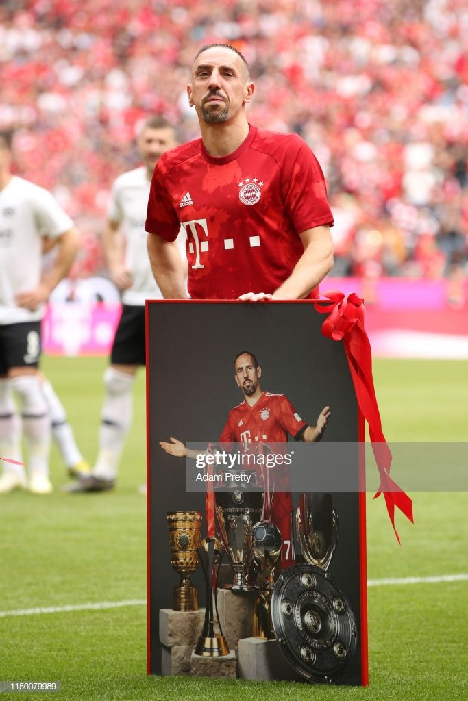 Franck Ribery Of Bayern Munich Is Thanked For His Service Prior To His Final Match For The Club During The Bundesliga Match Between Bayern Munich Bayern Munich