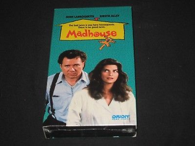Madhouse (VHS, 1990) FACTORY SEALED John Larroquette , Kirstie Alley