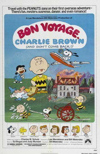 BON VOYAGE CHARLIE BROWN - 1980 - orig 1-sheet 27x41 movie poster CHARLES SCHULZ