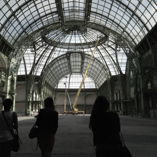 Empty Grand Palais - preparing FIAC preview