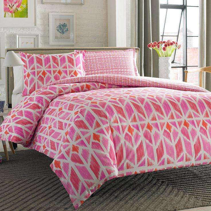 City Scene Grayson Multi Pink Comforter & Duvet Set
