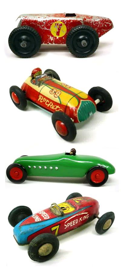 Daddy's vintage toy cars.  They don't make them like that anymore do they?
