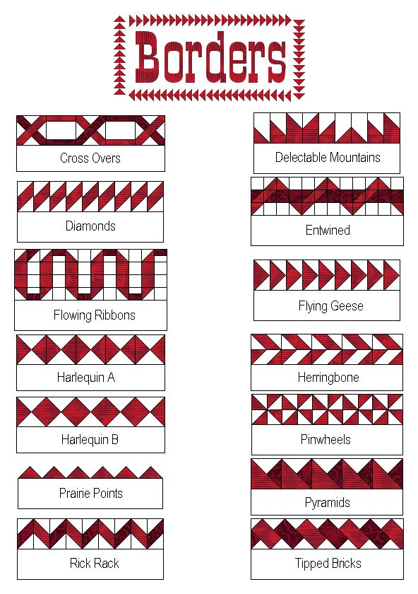 More great border construction ideas from Quilter's Cache. Get inspired and make those borders exciting! DLW