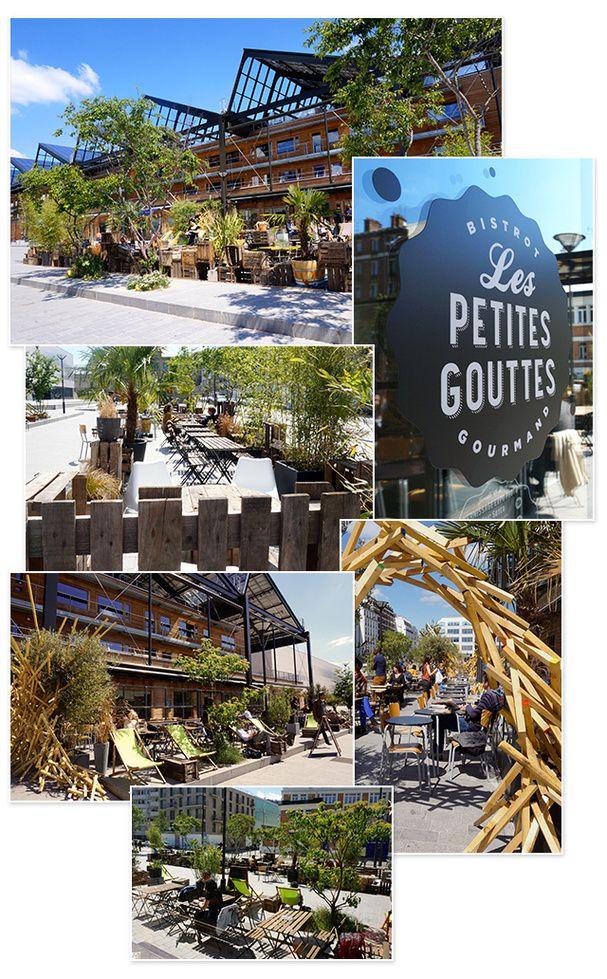 Les Petites Gouttes, 12 Esplanade Nathalie Sarraute, Paris 18ème. Ouvert du Lundi au Dimanche de 11h à 2h.
