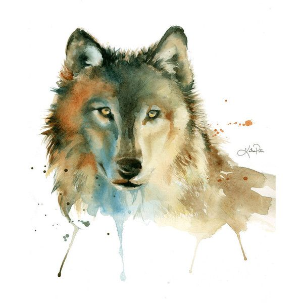 Grey Timber Wolf, watercolor print by Katrina Pete. Wolf painting,... ($20) ❤ liked on Polyvore featuring home, home decor, wall art, grey paintings, watercolour painting, watercolor wall art, wooden wall art and wood home decor