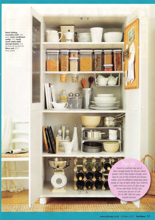 Your Home magazine kitchen storage solutions