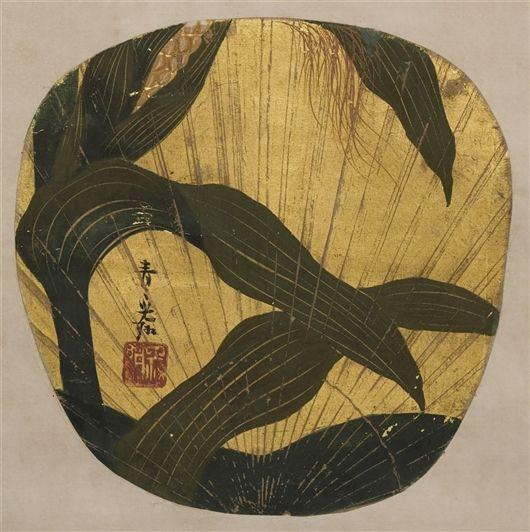 Corn by Ogata Korin