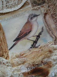 Fabric collage by Dorthe of Den Lille Lade
