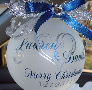 Ornaments with vinyl...lots of really great design ideas with vinyl lettering@Kerri Hulsebus