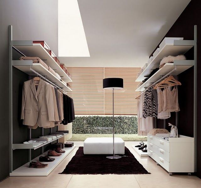 walk in closet that's clean, simple, and just makes it easier to find things