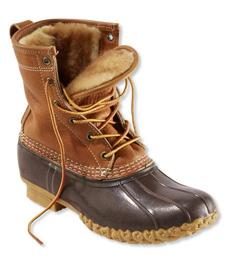 "PLEEEEEEEASE!!!!! :) Women's Tumbled-Leather L.L.Bean Boots, 8"" Shearling-Lined"