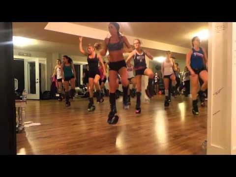 KANGOO DANCE with Becky--- this woman is seriously awesome!   I do her videos all the time and they are a total blast!!!   I want to teach KANGOO!!!!   :)
