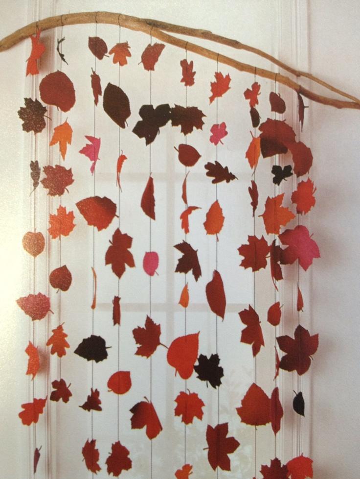 Guirlandes de feuilles dautomne  arts visuels et travaux manuels 2 ...