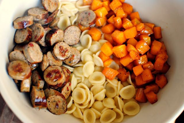 ... Butternut Squash, Sausage and Orecchiette Pasta in a Brown Butter Sage