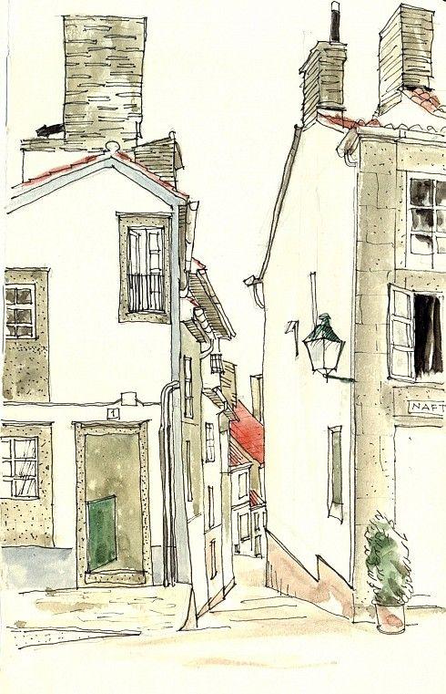 Desde la plaza de San Roque, Santiago de Compostela (España) by Telesforo Zabala