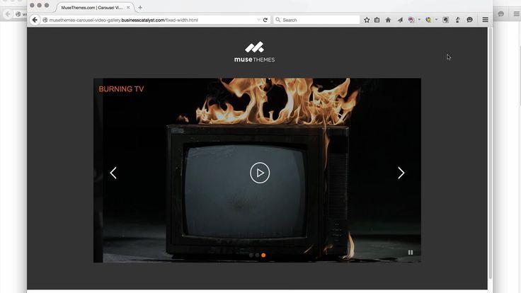 Adobe Muse Video Carousel Widget from MuseThemes.com. #video #adobemuse #web