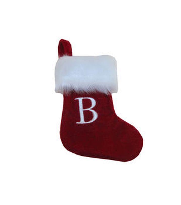 Holiday Cheer Mini Monogram Stocking-A