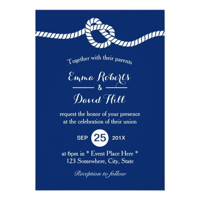 2483 best Navy Wedding Invitations images on Pinterest Navy