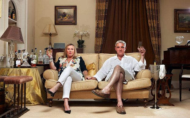 """New research says that home boozing has become so habitual that drinkers increasingly resemble """"the posh couple"""" from Channel 4's fly-on-the-wall documentary Gogglebox – otherwise known as Stephanie and Dom Parker, from Sandwich in Kent."""