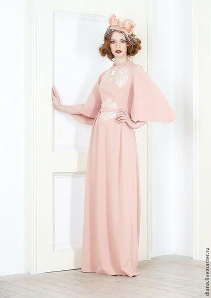 """Светлое вечернее платье """"Эдита"""" - кремовый,Платье нарядное,платье коктейльное"""