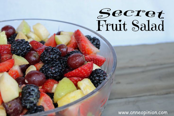 Secret Fruit Salad- secret ingredient is vanilla pudding powder