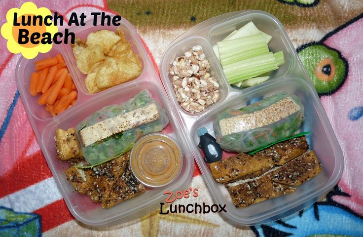 Beach Bentos with #Easylunchboxes