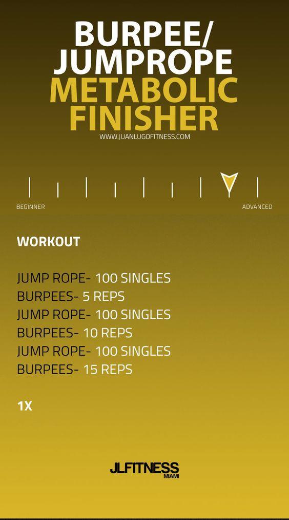 Burpee/Jump Rope Metabolic Finisher