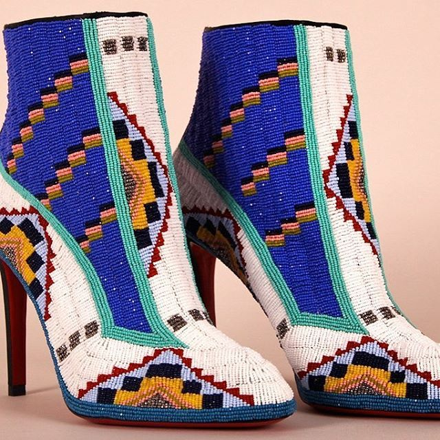 Native American artist Jamie Okuma talks about her custom beaded shoes! Head to footwearnews.com and search 'Jamie Okuma'.