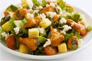 Pineapple chicken salad with balsamic vinaigrette