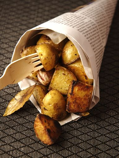 TESTE : nickel! Recette Pommes de terre nouvelles à l ail et au laurier